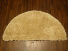 HALF MOON SHAGGY RUGS 60CMX120CM WOVEN REALLY GOOD QUALITY SUPER THICK CREAM NEW